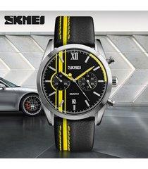 reloj de negocios de los hombres de moda-amarillo
