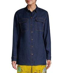 everson linen chambray blouse