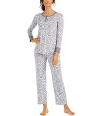 ellen tracy animal-print pajamas set