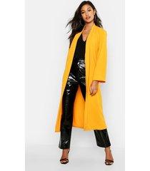 longline belted kimono, mustard