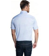 koszula bexley 2496 krótki rękaw custom fit niebieski