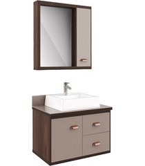 conjunto de banheiro são joão atlanta, castaine e taupe, 65 cm