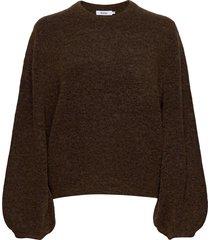 eija sweater stickad tröja brun stylein