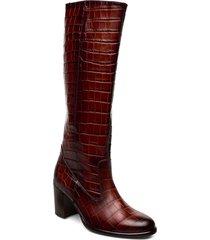 boots höga stövlar röd gabor