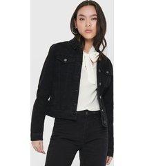 chaqueta jacqueline de yong negro - calce ajustado