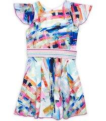girl's mix it up sateen swing dress