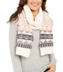 cejon fair isle embellished muffler scarf