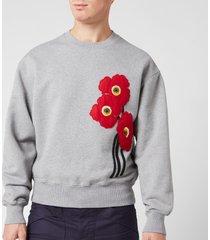 ami men's sweatshirt - heather grey - m