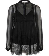 overlay pleat blouse