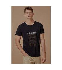 t-shirt malhao chope preto - p