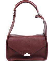 balenciaga tool red grained calfskin chain strap shoulder bag red sz: m