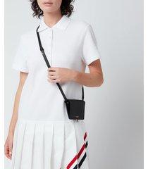 thom browne women's card holder with shoulder strap - black