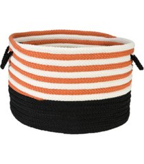 colonial mills candy swirl braided storage basket