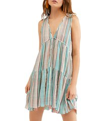 freebird striped mini dress