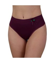 calcinha cintura alta vip lingerie elástico barra 25 bordô