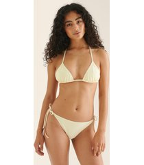 na-kd swimwear recycled bikinitrosa med knytband - offwhite