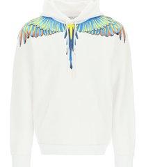 marcelo burlon birds wings print hoodie
