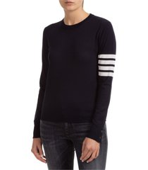 maglione maglia donna girocollo 4 bar