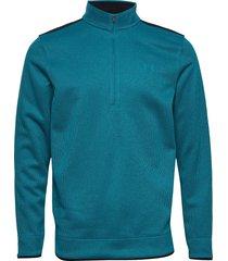 sweaterfleece 1/2 zip knitwear half zip jumpers blå under armour