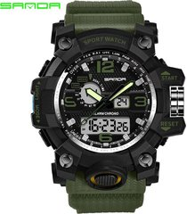 sanda 742 watch impermeable reloj de cuarzo analógico-digital luminoso