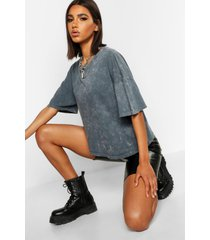oversized acid wash t-shirt, charcoal