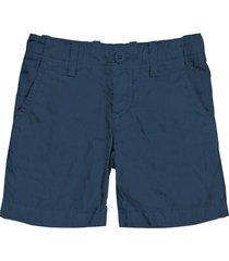 blue navy linen bermuda short for boy
