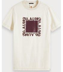 scotch & soda t-shirt met artwork en korte mouwen