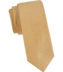 micro neat pattern silk tie