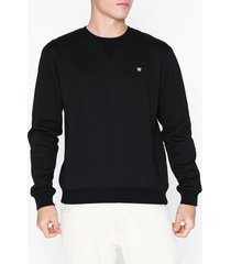 wood wood tye sweatshirt tröjor black
