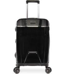 "brookstone herbert 21"" hardside carry-on luggage with charging port"