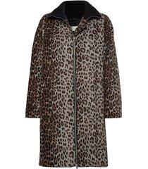 zaadaiw coat wollen jas lange jas bruin inwear
