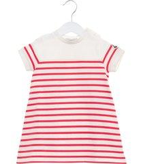moncler striped dress with rear slit