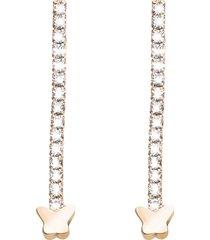 orecchini in metallo rosato e cristalli per donna
