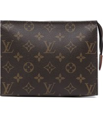 louis vuitton 2010 pre-owned poche toilette 19 cosmetic pouch - brown
