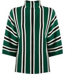 aspesi wool-knit striped top - green