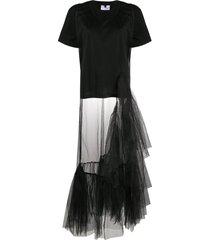 alchemy tulle-layered t-shirt - black