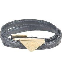 prada logo plaque bracelet