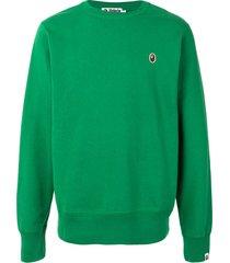 a bathing ape® ape patch sweatshirt - green