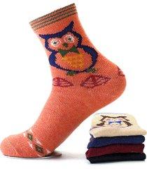 calzini graziosi comodi di colore misto della calza dei calzini di colore rosso caldi comodi caldi della lana degli uomini delle donne
