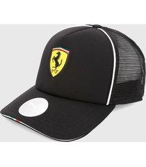 gorra negro-blanco-amarillo puma malla scuderia ferrari