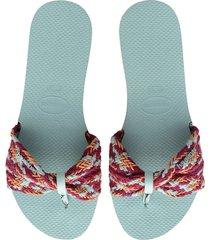 women's havaianas you st. tropez mesh sandal, size 11/12 m - blue