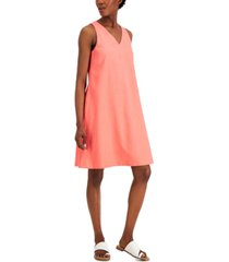 anne klein v-neck trapeze dress