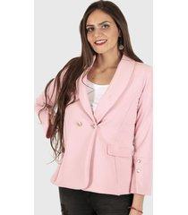 blazer yomaira formal rosado truhana
