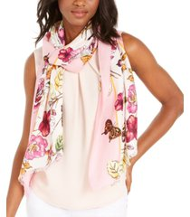 inc botanical colorblocked-border pashmina, created for macy's