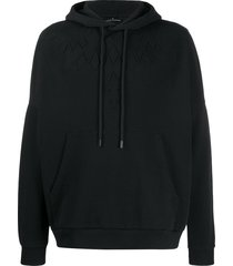 marcelo burlon county of milan embossed wings hoodie - black