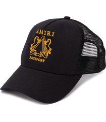 amiri embroidered baseball cap - black
