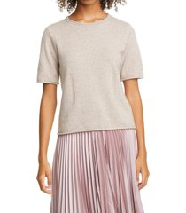 club monaco short sleeve cashmere sweater, size x-large in taupe multi at nordstrom