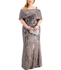 nightway plus size sequin gown