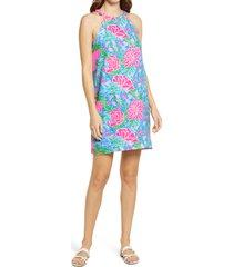 women's lilly pulitzer tabby sleeveless shift dress, size x-large - blue/green