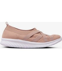 sneakers stickad slip on